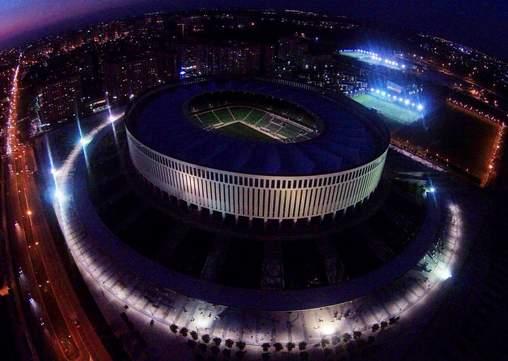Строительство стадиона ФК «Краснодар». Фото, видео июнь-июль 2016