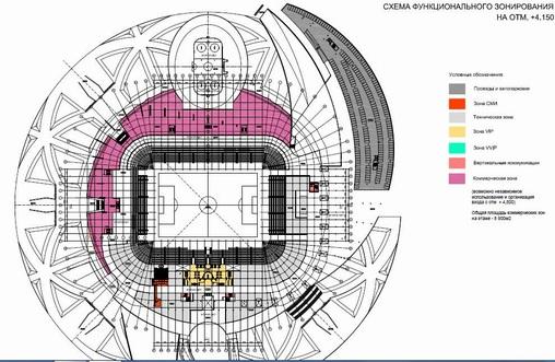 Схемы стадиона в