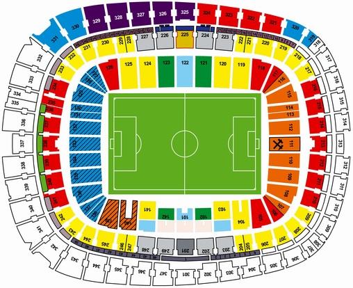 на схемы стадионов,