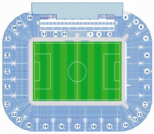 Схема стадиона.